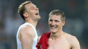Neuer e Schweinsteiger imparano a ridere
