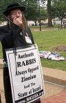 Rabbi Weiss nella manifestazione di Washington