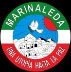 """La bandiera del comune di Marinaleda con il motto """"un'utopia verso la pace"""""""