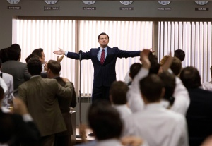 "Leonardo Di Caprio in The wolf of Wall Street osannato come un ""master of the universe"""