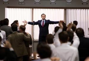 """Leonardo Di Caprio in The wolf of Wall Street osannato come un """"master of the universe"""""""