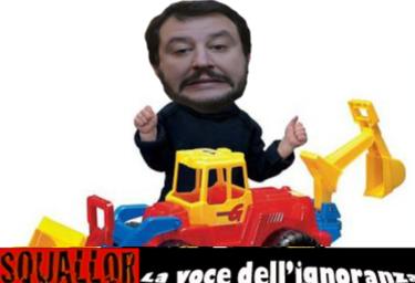 Salvini e la ruspa