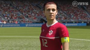 Una calciatrice di Fifa'16