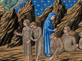 Una raffigurazione degli invidiosi nel purgatorio dantesco