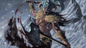La raffigurazione di un berserker vichingo