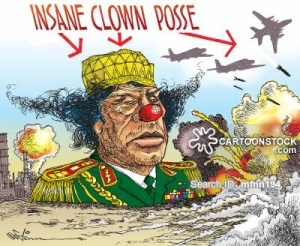 Cartoon Gaddafi