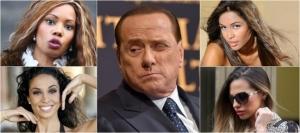 Berlusconi e parte del suo harem