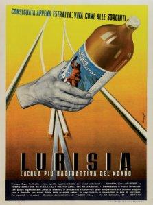 Anni '30: la pubblicità della Lurisia, l'acqua più radioattiva del mondo!