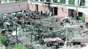 CASABLANCA (Marocco). 17-05-2003. Patio della Casa de España dove si immolarono due uomini bomba FOTO: LUIS DE VEGA. ARCHDC