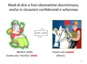 Modi di dire e frasi idiomatiche discriminano anche in situazioni confidenziali e scherzose