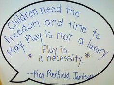 children need the freedom