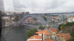 il ponte Dom Luis I dal Teleferico di Gaia