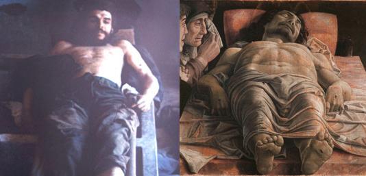La salma del Che (1967) paragonata al Cristo del Mantegna (1480)