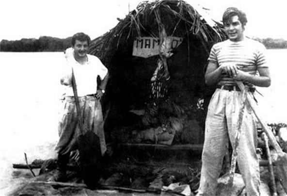 Giugno 1952 Alberto- Granado con Che Guevara sulle rive del Rio delle Amazzoni