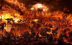 L'inferno fuoco e fiamme
