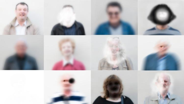 foto collage della mostra Io Ti Vedo Così della U.O. Oculistica di Cesena e dell'UICI sezione di Forlì-Cesena