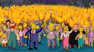 Folla inferocita, da I Simpson