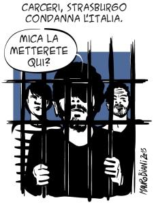 Nel 2013 la Corte dei Diritti dell'Uomo condannò l'Italia per le condizioni disumane delle carceri, nel 2016 il Consiglio d'Europa considera chiusa l'infrazione perché