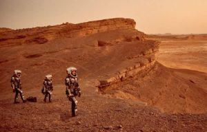 Una scena della serie tv Mars