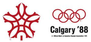 Il simbolo di Calgary 1988, che riprende la decorazione di un tamburo da medicina sioux