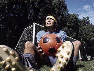 Hugo Gatti, portiere dell'Argentina pre-dittatura, in allenamento