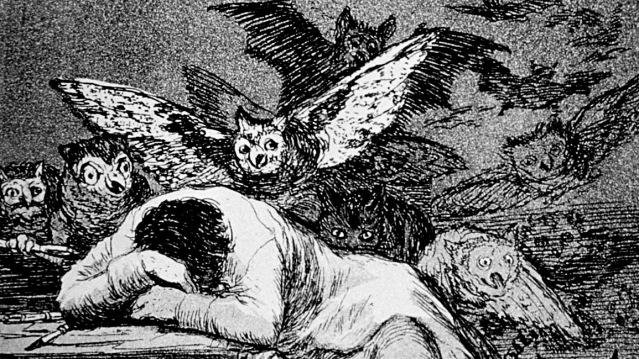 Goya - Il sonno della ragione genera mostri (aquaforte, 1797)