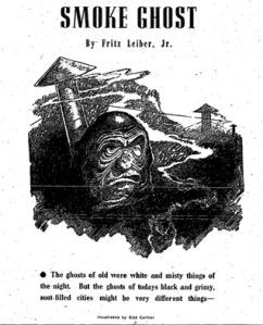 copertina del libro The smoke ghost di Fritz Lieber