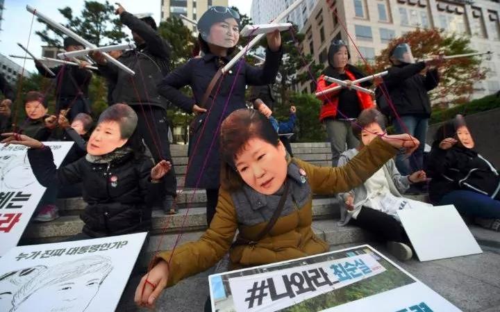 Manifestanti contro la Park