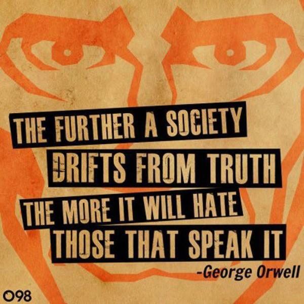 frase di Orwell sulla verità