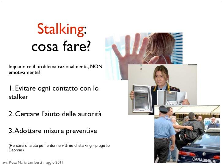 stalking che fare?