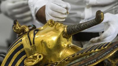 tutankamon mask beard