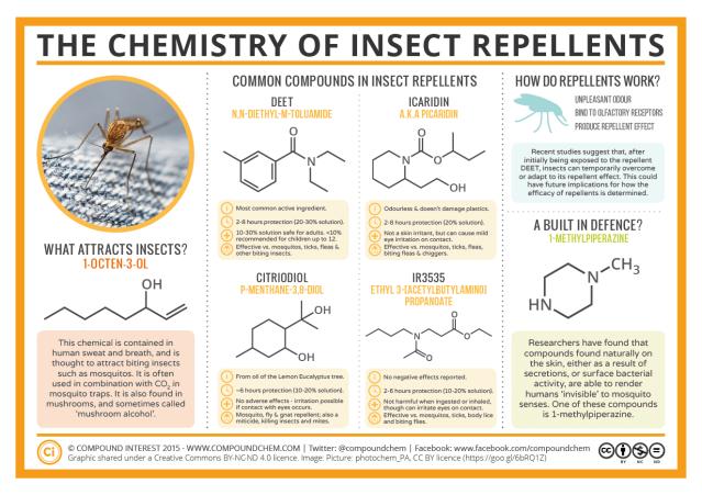 infografica sui repellenti per insetti