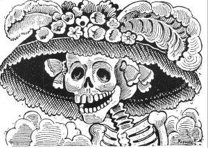 santa muerte Calavera Catrina Podada