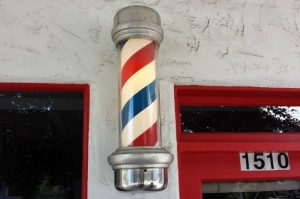 Il caratteristico palo da barbiere