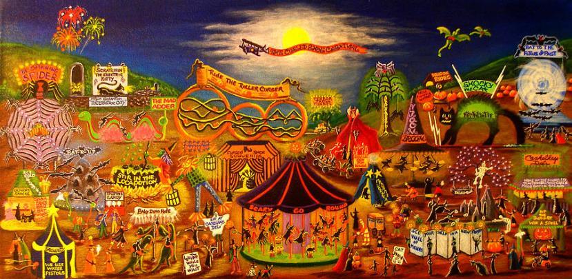 dipinto sul carnevale