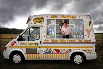furgoncino per la vendita del gelato negli Stati Uniti