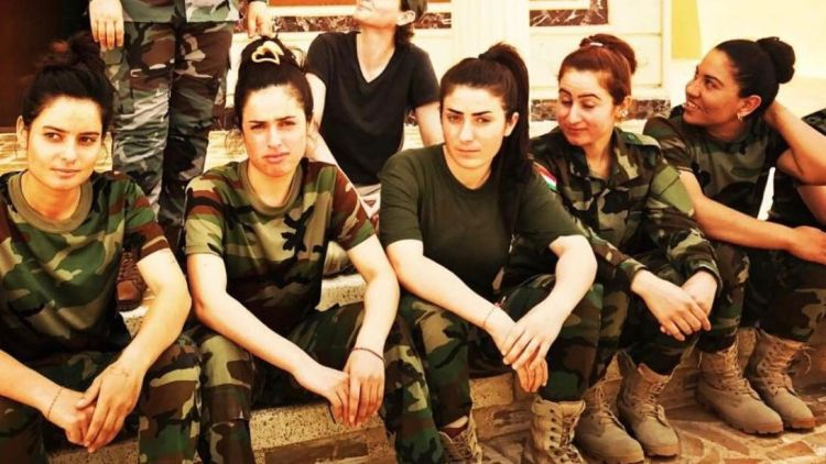 The Kurdish Women Movement in Full Kit resisting Patriarchy