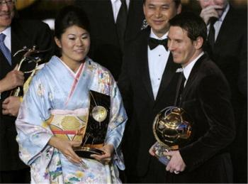 Homare Sawa kimono miglior calciatrice FIFA 2011