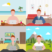 Luoghi e modi da lavoro a distanza