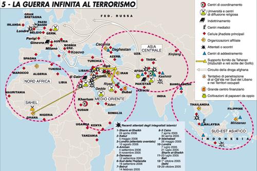 Mappa limes terrorismo 11 settembre